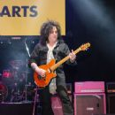 Steve Stevens is seen performing during the Adopt the Arts Annual Rock Gala at Avalon Hollywood in Los Angeles, California - 450 x 600