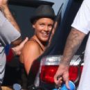Singer Pink and No Doubt bassist Tony Kanal are spotted out in Malibu with her daughter Willow