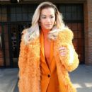 Rita Ora in Orange Outfit out in New York City
