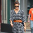Helena Christensen Strolling In The West Village