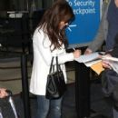 Paula Abdul arriving on a flight at LAX airport in Los Angeles, California on January 12, 2015 - 412 x 594