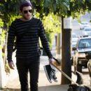 Zachary Quinto Walks His Furry Friend