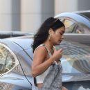 Vanessa Hudgens – heading to an office building in LA