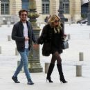 Sylvie Meis and her boyfriend out in Paris - 454 x 372