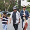 Michael Douglas, Catherine Zeta-Jones and their son Dylan grabbing lunch together in Malibu (July 12)