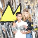 Nina Agdal – Alice + Olivia x Basquiat CFDA Capsule Collection Launch Party in NYC 11/2/ 2016 - 454 x 303