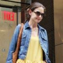 Katie Holmes leaving her lawyers office in New York City