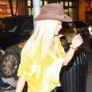 Rita Ora in Black Jeans and Cowboy Hat out in New York City