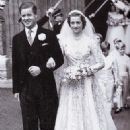 John Spencer and Frances Roche at their wedding