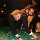 Jamie Campbell-Bower, James Purefoy and Sydney Finch attend Roger Dubuis - Soiree Monegasque at Hotel de Paris on October 20, 2011 in Monaco