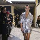 Bar Refaeli – Outside Byblos Fashion Show in Milan - 454 x 681