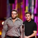 Zac Efron onstage during the 2016 MTV Movie Awards at Warner Bros. Studios on April 9, 2016 in Burbank, California - 399 x 600