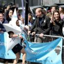 Duchess Catherine, Prince William and Prince Harry attend Virgin Money London Marathon
