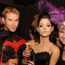 """Twilight"" co-stars Ashley Greene and Kellan Lutz were in festive mode at Tao Nightclub at The Venetian in Las Vegas on Saturday night (October 31)."