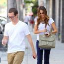 Sofia Vergara spending the day shopping with a friend in Beverly Hills (July 31)