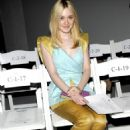 Dakota Fanning was spotted sitting front row, center at the fashion show for Rodarte's Fall Ready-to-Wear Line in New York City, February 14