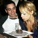 Nicole Richie makes a wish at the Roosevelt Hotel for 24th birthday with her then boyfriend, DJ AM.