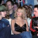 Actor Danny Masterson, actress Nicole Richie and DJ AM watch the show at the Play Station Portable Fashion and Technology show at Pret A PSP at the Pacific Design Center on March 14, 2005 in West Hollywood, California
