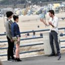 Stars On The Set Of '90210' In Santa Monica
