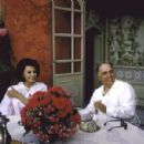Carlo Ponti with wife Sophia Loren during the Cannes Film Festival in 1961. - 454 x 298