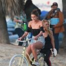 Stella Maxwell and Taylor Hill – Photoshoot for Victoria's Secret in Venice Beach - 454 x 681