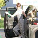 Selena Gomez – Goes to pilates and AMA rehearsals in LA