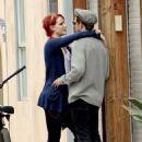 Evan Rachel Wood kissing Jamie Bell in LA (July 5)
