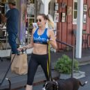 Miley Cyrus in Leggings with her dogs out in Calabasas
