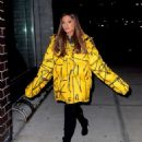 Ariana Grande in Yellow Jacket – Out and about in NYC
