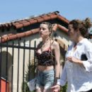 Amber Heard – Filming 'Run Away With Me' in Los Angeles