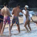 Chrissy Teigen Wearing A Bikini In The Caribbean