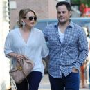 Hilary Duff: heading to the romantic restaurant Beauty & Essex in New York City