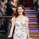 Anne Hathaway on 'The Late Late Show with James Corden' in Los Angeles - 454 x 681
