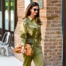 Lily Aldridge in Green Outfit – Out in New York City - 454 x 711