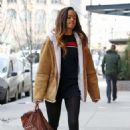 Malia Obama Arriving at Weinstein offices for her internship in NY - 454 x 681
