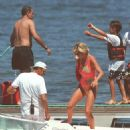 Dodi Fayed, his half-brother & Princess Diana