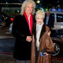 Brian May and Anita Dobson attend the Daily Mirror & RSPCA animal hero awards at The Grosvenor House Hotel on November 26, 2014 in London, England - 389 x 594