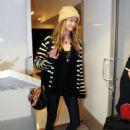 Behati Prinsloo Arrives At Los Angeles International Airport