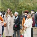 Hilary Duff and Sutton Foster – on the set of 'Younger' in NYC