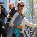 Alessandra Ambrosio – Leaves her yoga class in Brentwood - 454 x 694