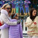 Mila Kunis – Filming 'A Bad Moms Christmas' set in Atlanta - 454 x 303