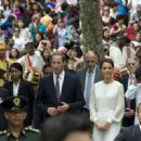 Prince William and Kate Middleton at the KLCC Mosque in Kuala Lumpur (September 14) and at the Istana Negara the previous evening