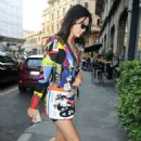Bella Hadid, Kendall Jenner, Kristen Stewart and Stella Maxwell out for dinner in Milan