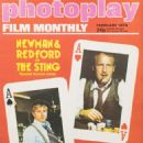 Robert Redford - Photoplay Film Montly Magazine Cover [United States] (February 1974)