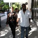 Kim Kardashian: lunch at up scale Bal Harbor Restaurant in Miami