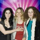 Sarah Silverman (left) and Aimee Mann (middle) on a premiere of Sarah Silverman: Jesus is Magic