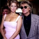 Rod Stewart and Rachel Hunter