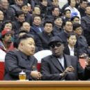 Kim Jong Un and Dennis Rodman At the Infamous Basket Ball Game