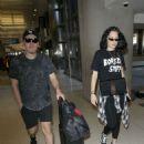 Jessie J at LAX Airport with her boyfriend in Los Angeles - 454 x 600