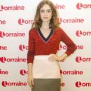Lily Collins on 'Lorraine' TV Show in London - 454 x 827